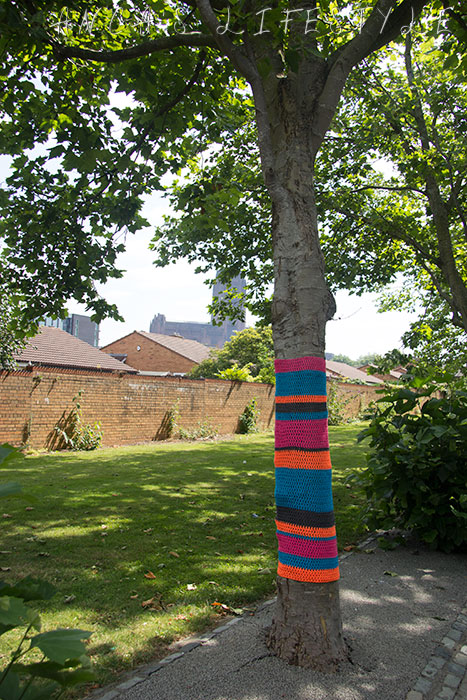 yarn bombing liverpool