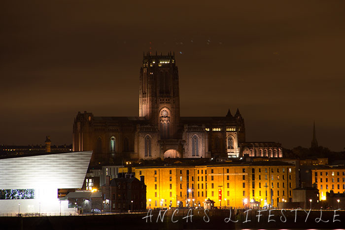 Liverpool cathedral by night picture