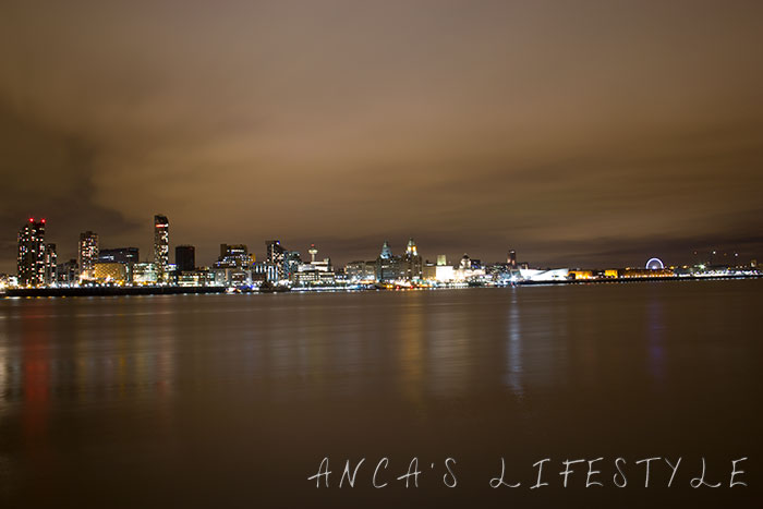 Liverpool waterfront by night