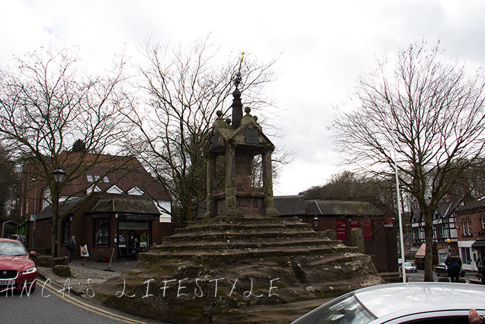 Cross Lymm village Cheshire