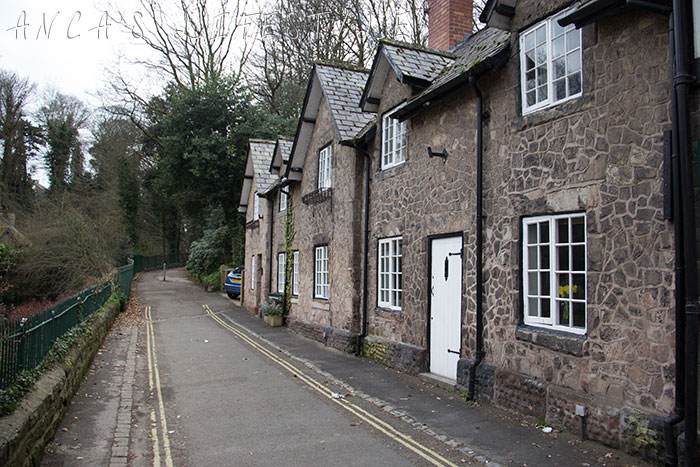 Old cottages in historic english Lymm village Cheshire