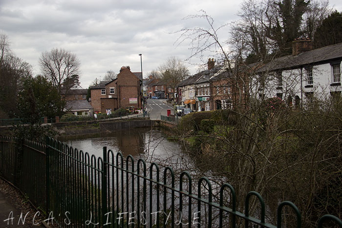 picturesque, old, historic Lymm village Cheshire