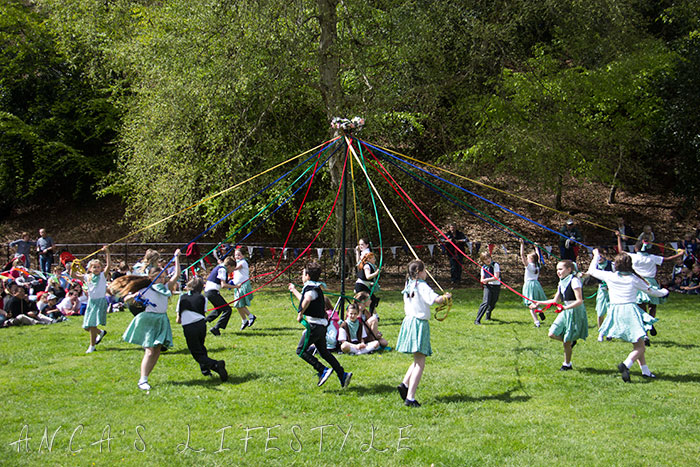 24 Victorian May Day at Quarry Bank National Trust with maypole dancing