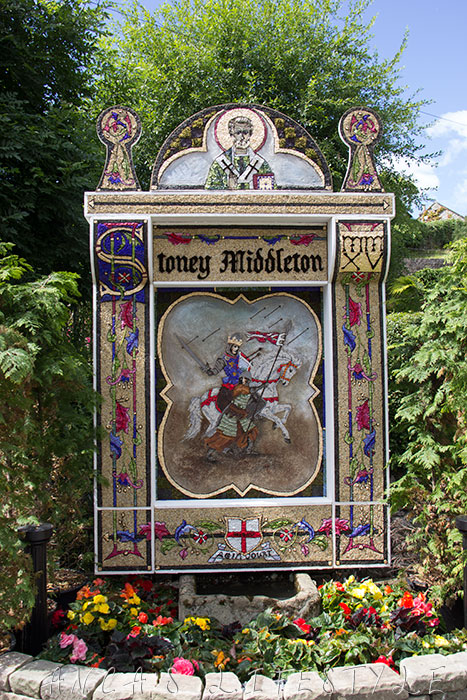 01 Well dressing Stoney Middleton Derbyshire
