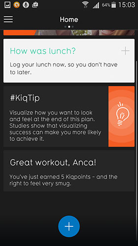 05 Screenshot kiqplan fitness app