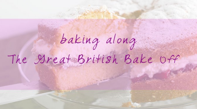 Baking along The Great British Bake Off