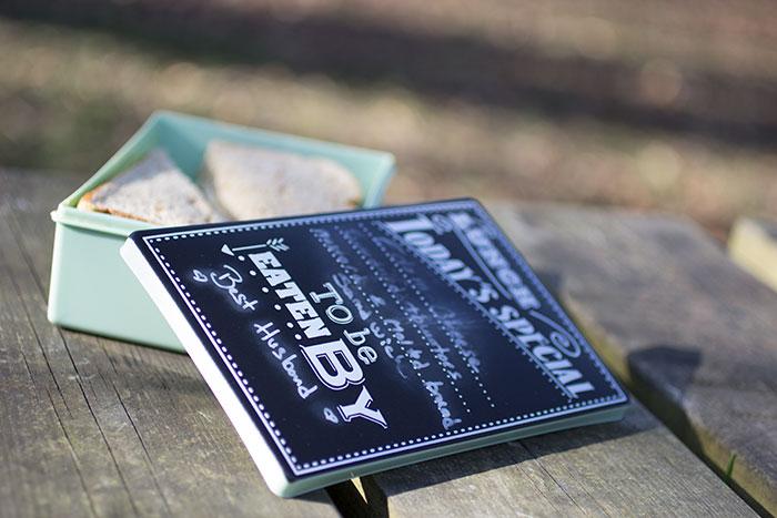 Chalkboard bundle giveaway: Chalkboard mug Chalkboard bunting and Chalkboard lunch box