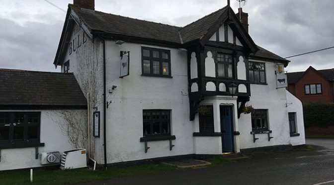 The Bull Pub Malpas, from outside