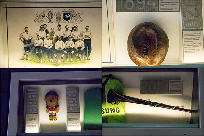 Memorabilia at National Football Museum