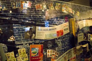 Tickets and flags on display at National Football Museum