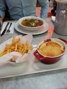 CRÊPE AU FOUR with french fries at Café Rouge at intu Trafford Centre