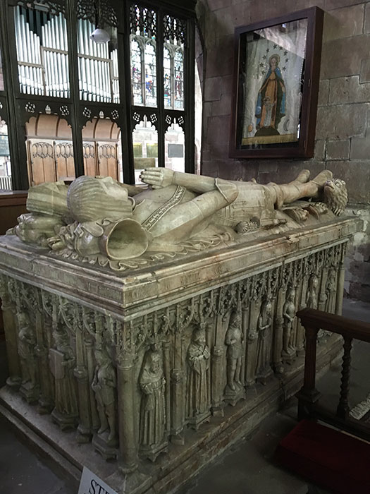 Tombs in the church