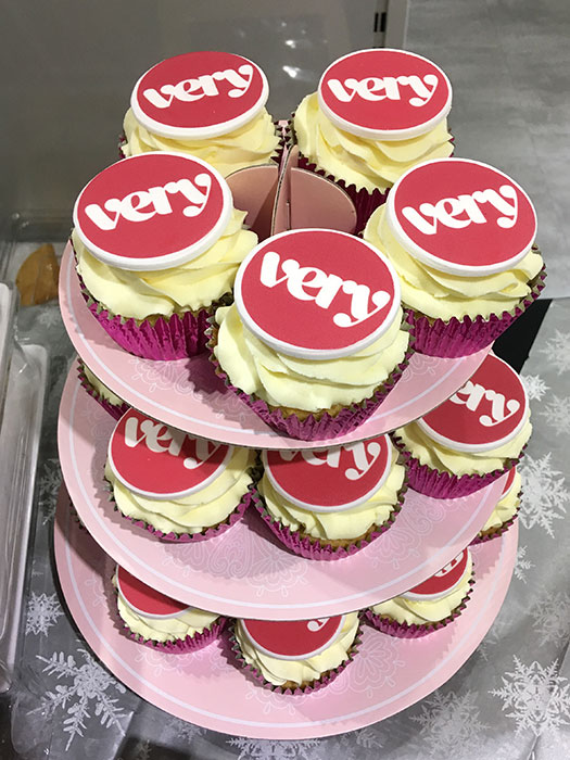 Very cupcakes on a stand