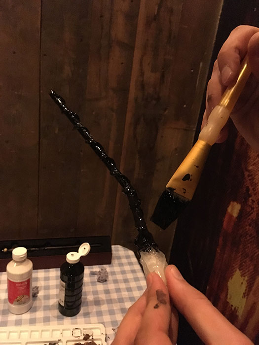 Wand making - painting