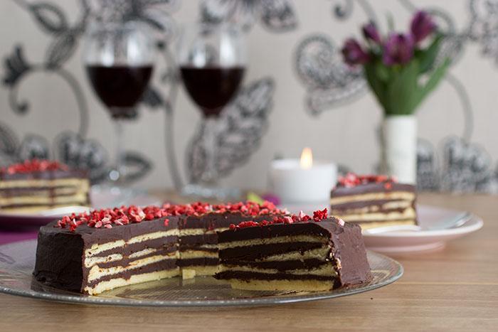 Tschumi's Chocolate Cake. Slice of cake