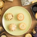 Best Luxury Mince Pies, four pies on a plate