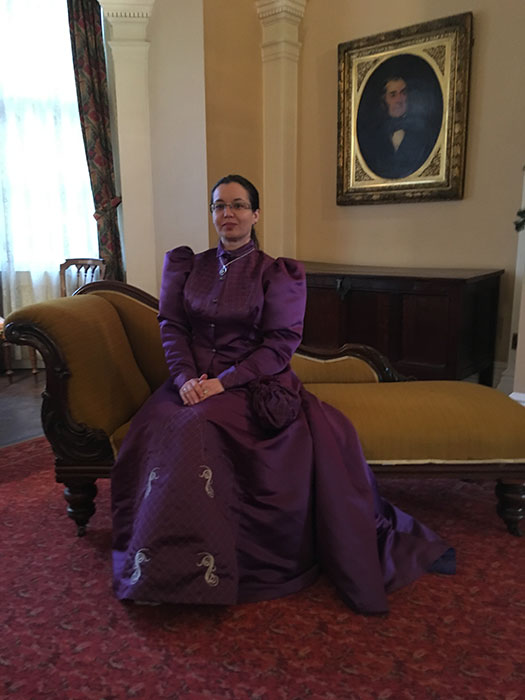 Volunteering at Victorian Christmas, as Lady Sefton