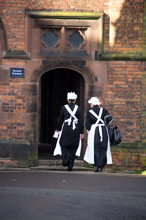 Volunteers dressed as Kitchenmaids