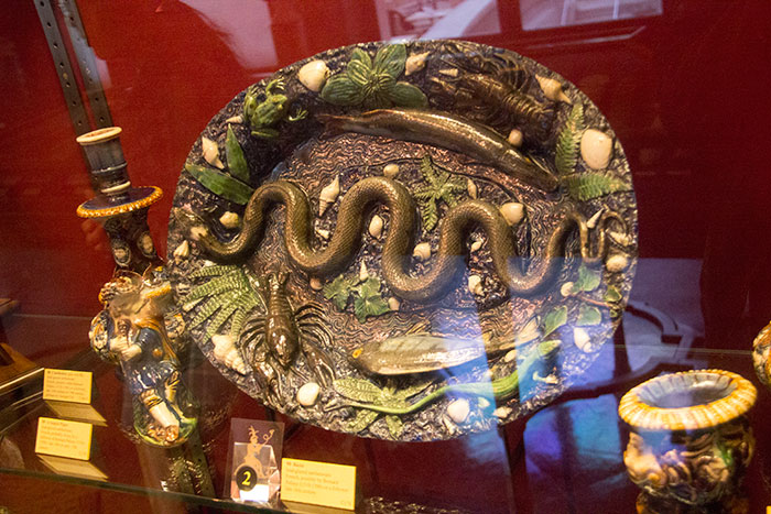 Basin. Lead-glazed earthenware. French, possibly made by Bernard Palissy in late 16th century