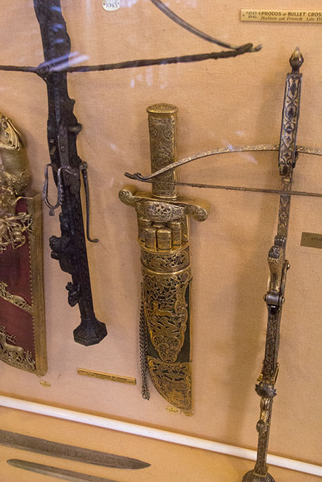 Weapons in the Armoury rooms