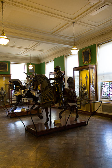 Display in the Armoury rooms