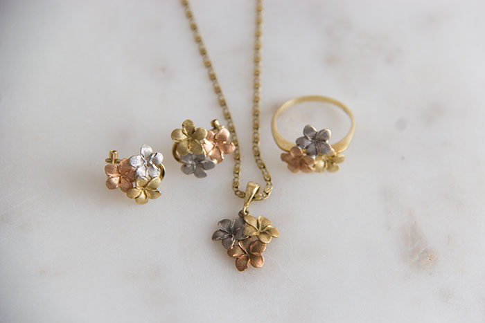 My favourite pieces of jewellery - flower set