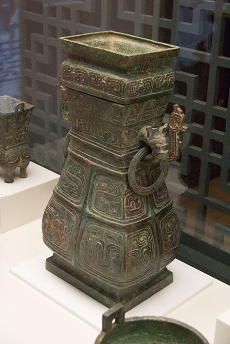 Wine vessels at The Terracotta Warriors. World Museum Liverpool