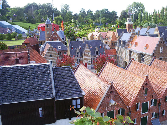 Roofs of houses in Madurodam