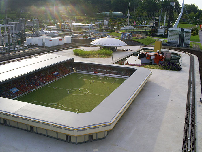 Football stadium. Madurodam