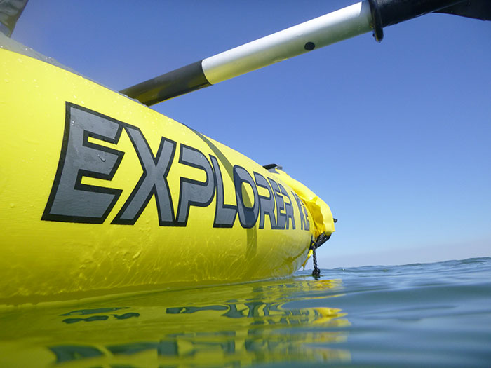 Kayaking. The inflatable kayak
