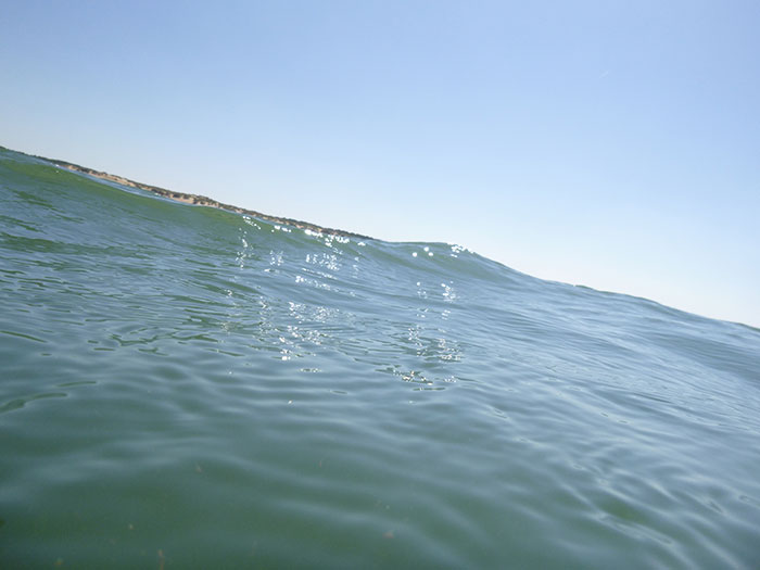 Kayaking. The waves