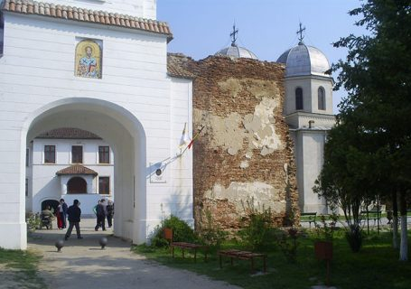 Comana Monastery, Bucharest. Entrance