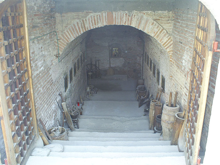 Comana Monastery steps to cellar