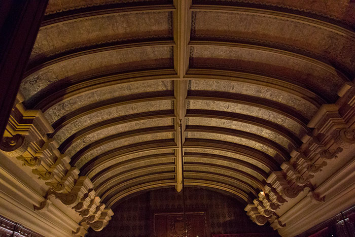 Leather ceiling at Waddesdon Manor