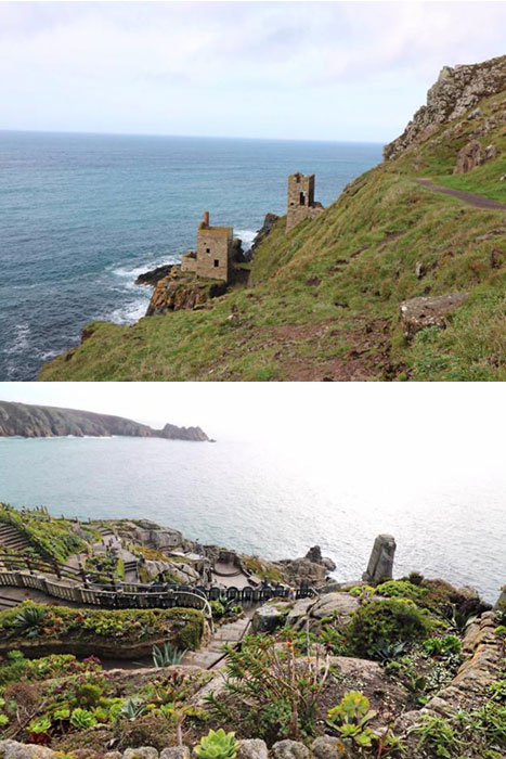 Botallack Mines and Minack, an open air theatre