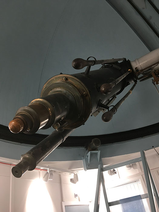 Detail of telescope at Jeremiah Horrocks Observatory