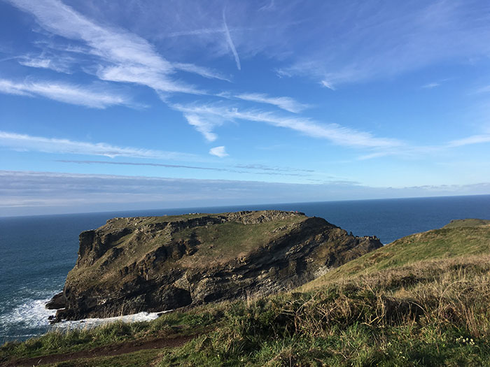 Tintagel. Glebe Cliff
