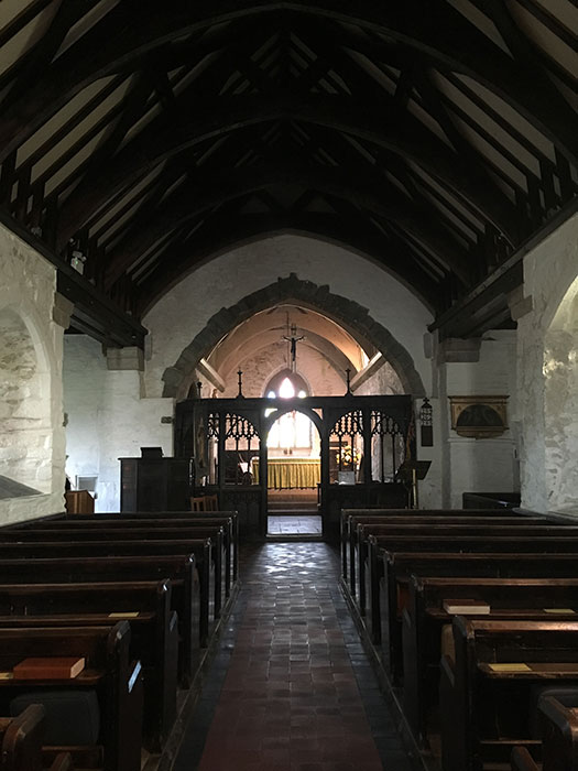 Tintagel. St. Materianna Church. Interior