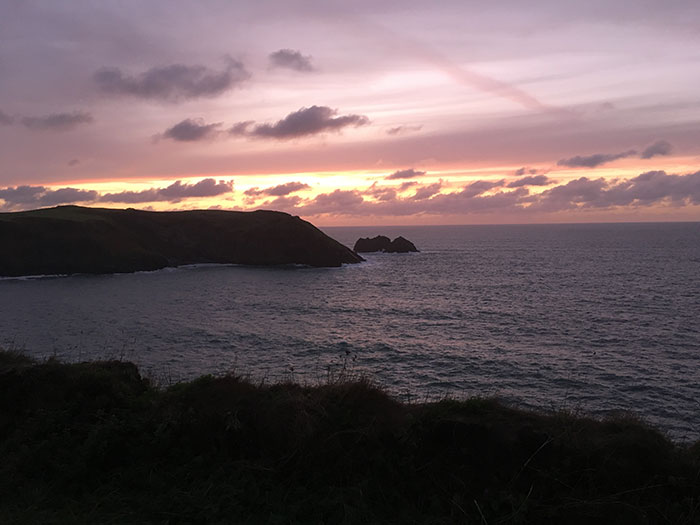 Sunset on the Cornish Coast