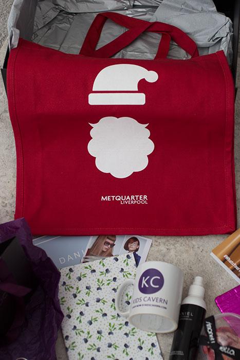 Christmas Press Day Metquarter. Fabric bag.