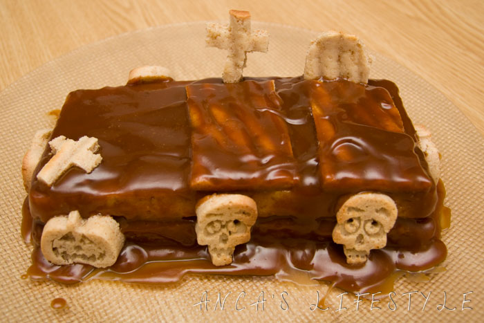 Recipes for Halloween - Graveyard cake