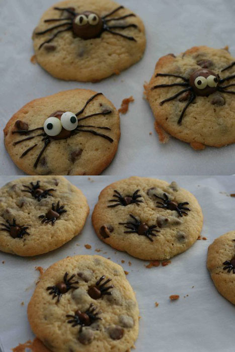 Spider chocolate cookies