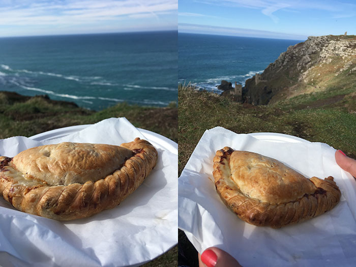 Cornish pasties at Botallack Mines