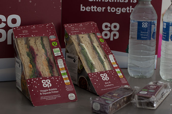 New Christmas Sandwiches at Co-op
