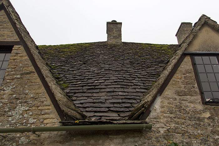 Detail of house on Arlington Row in Bibury