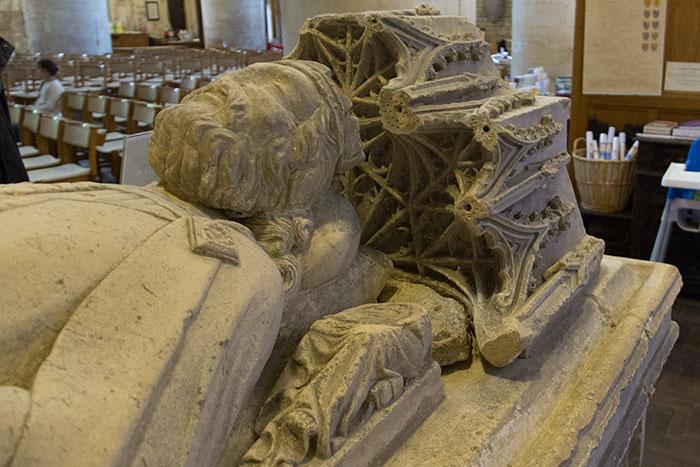 Malmesbury Abbey. Athelstan's tomb. Detail
