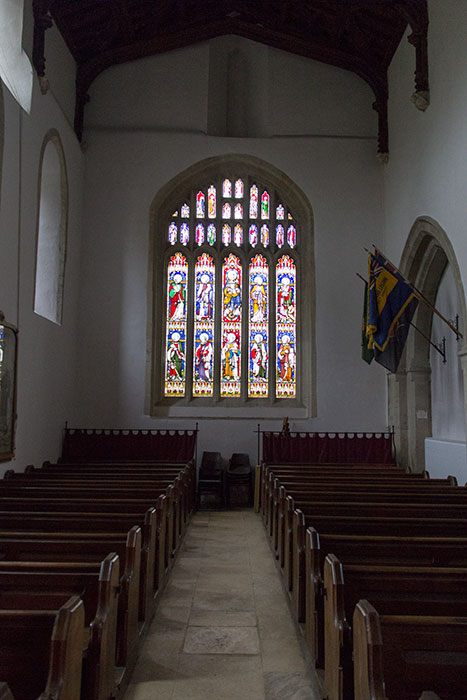 Church in Bibury. Interior of St Mary's