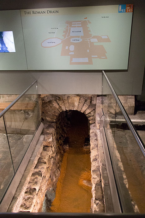 Sewage at the Roman Baths