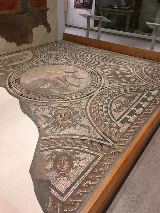 Corinium Museum. Roman mosaic