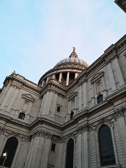 St Paul's Cathedral. Detail of the building, outside